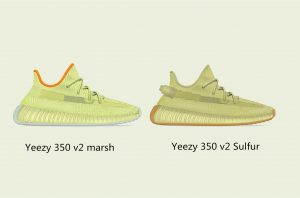 the difference between authentic Yeezy 350 v2 marsh and authentic Yeezy 350 v2 Sulfur