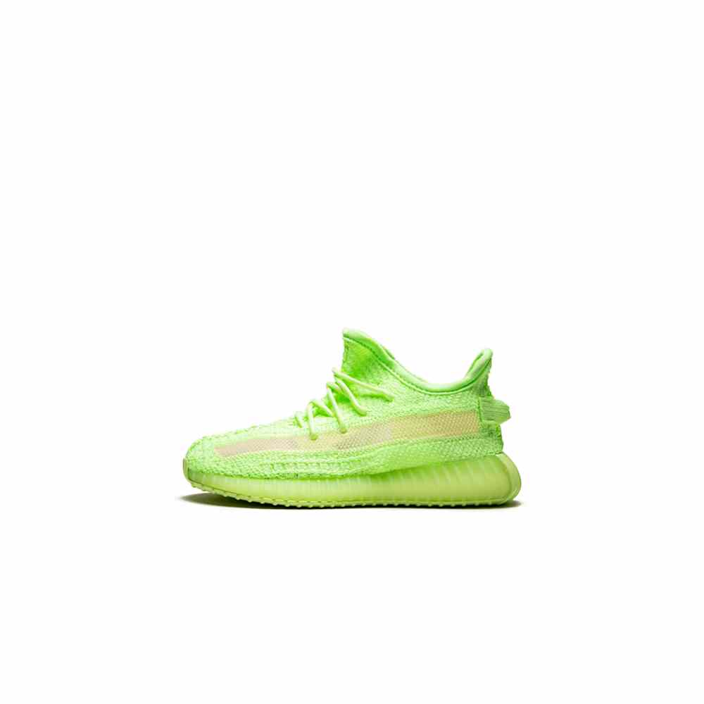 Fake Yeezy 350 v2 green glow in the dark For kids